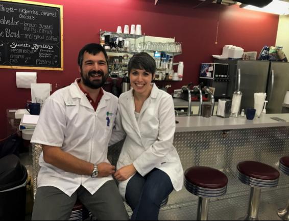 Husband and wife pharmacists: Jody and Adam Reel