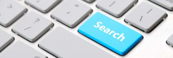 Image of a search button on a keyboard