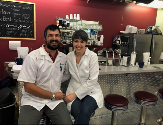 Husband and wife pharmacists: Jody and Adam Reel
