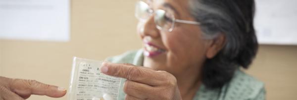 Reviewing prescription with a patient